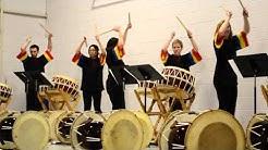 Korean Drumming Ensemble -- UW-LaCrosse -- All-School Assembly, Windsor, 4-10-13