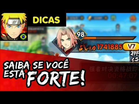 COMO SABER SE SUA FORÇA ESTÁ BOA PARA O SEU LEVEL - Dicas Naruto Mobile