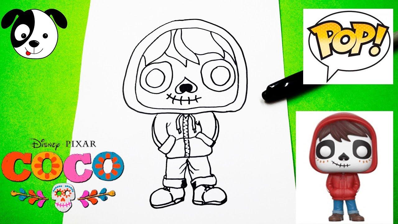 Miguel Coco Para Colorear: Dibujos Kawaii De Personajes De Disney Para Colorear