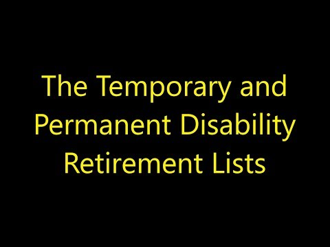 Episode 0044 - The Temporary and Permanent Disability Retirement Lists