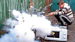 ✅СВЧ пушка из микроволновки 💀 Опасное электромагнитное оружие из микроволновой печи