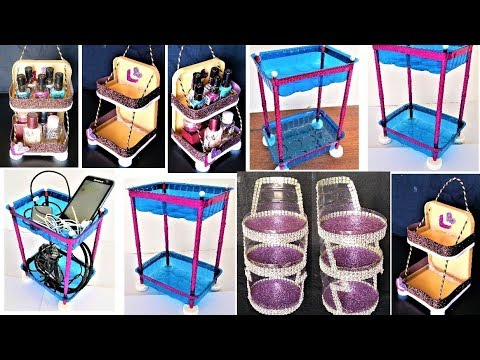 3 Rack Making Ideas From Waste Materials   DIY Best Out Of Waste