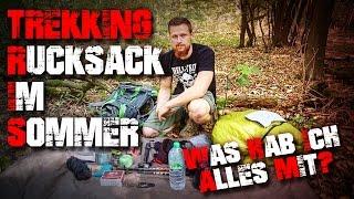 Sommer Trekking Rucksack 48 Std mit Übernachtung packen Loadout Inhalt Bushcraft Survival Outdoor