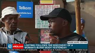 situation remains tense after violence and looting of foreign-owned shops in the township of Mhluzi