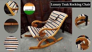 Handcrafted Teak Wood Rocking Chair | Relaxing Grandpa Rocker - Furniture Ideas by AarsunWoods.com
