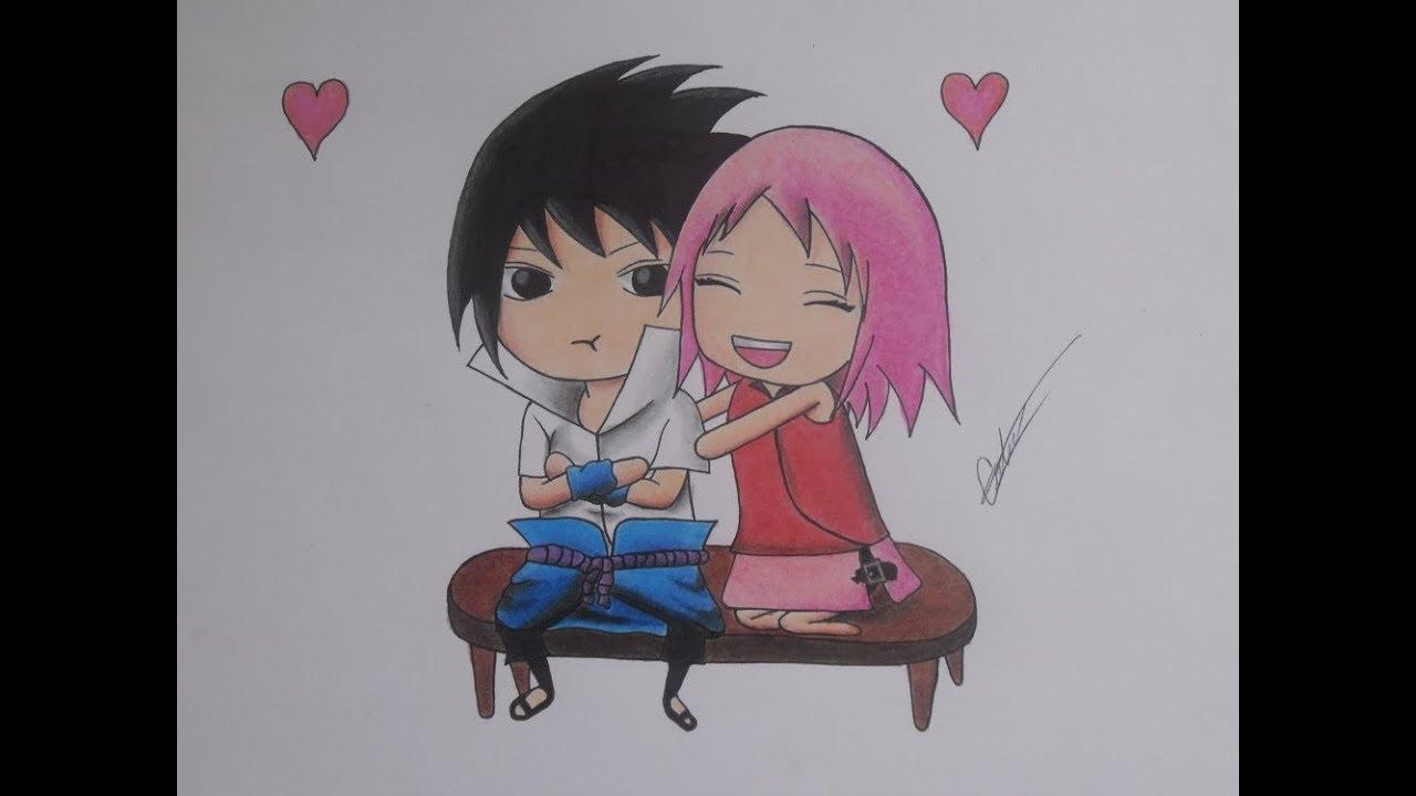 Sasuke Y Sakura Kawaii Como Dibujar Un Chibi