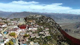 Ganden Monastery, Tibet, China in HD