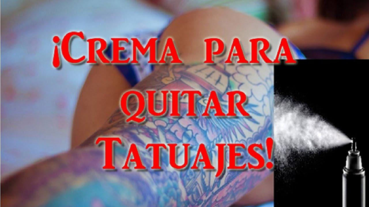 Quitar Tatuajes Con Crema Youtube