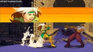 Fightcade - Xmen Vs Street Fighter - Jeff(USA) Vs Gohan13(ROM)