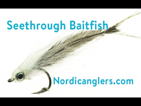 Trout- Saltwater Fly Tying Lesson, Step By Step, How To Tie The: Transparent Baitfish