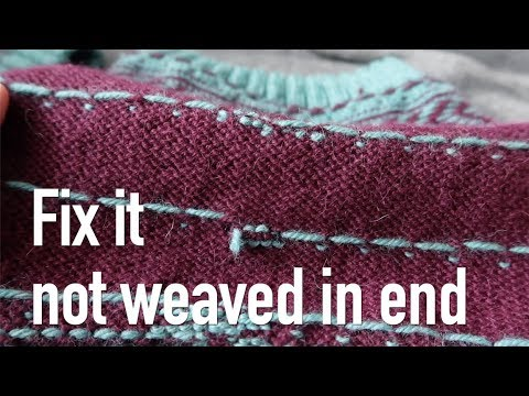 How to fix not weaved in end Tutorial How I... knitting ILove