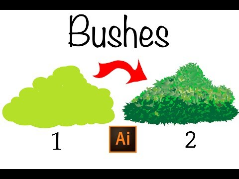 Learn How To Draw Bushes in Illustrator,Very Easy Way.