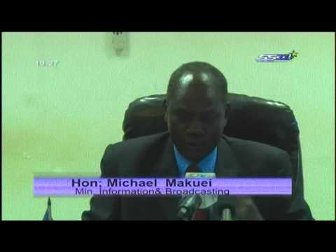 Press conference of Michael Makuel Information Minister about South Sudan Coup