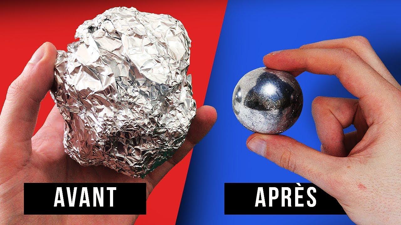 Comment Faire Des Boules En Papier fabriquer une balle en aluminium !