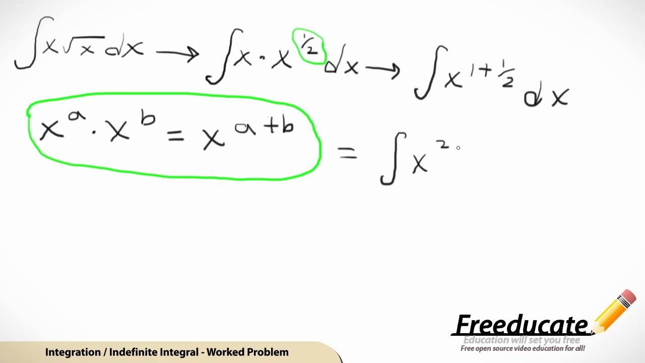 Integration of an Indefinite Integral - YouTube