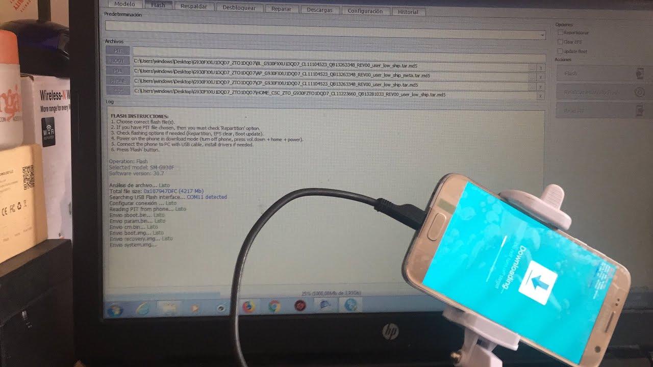 Revivir Samsung Galaxy S7 G930F Via Z3X