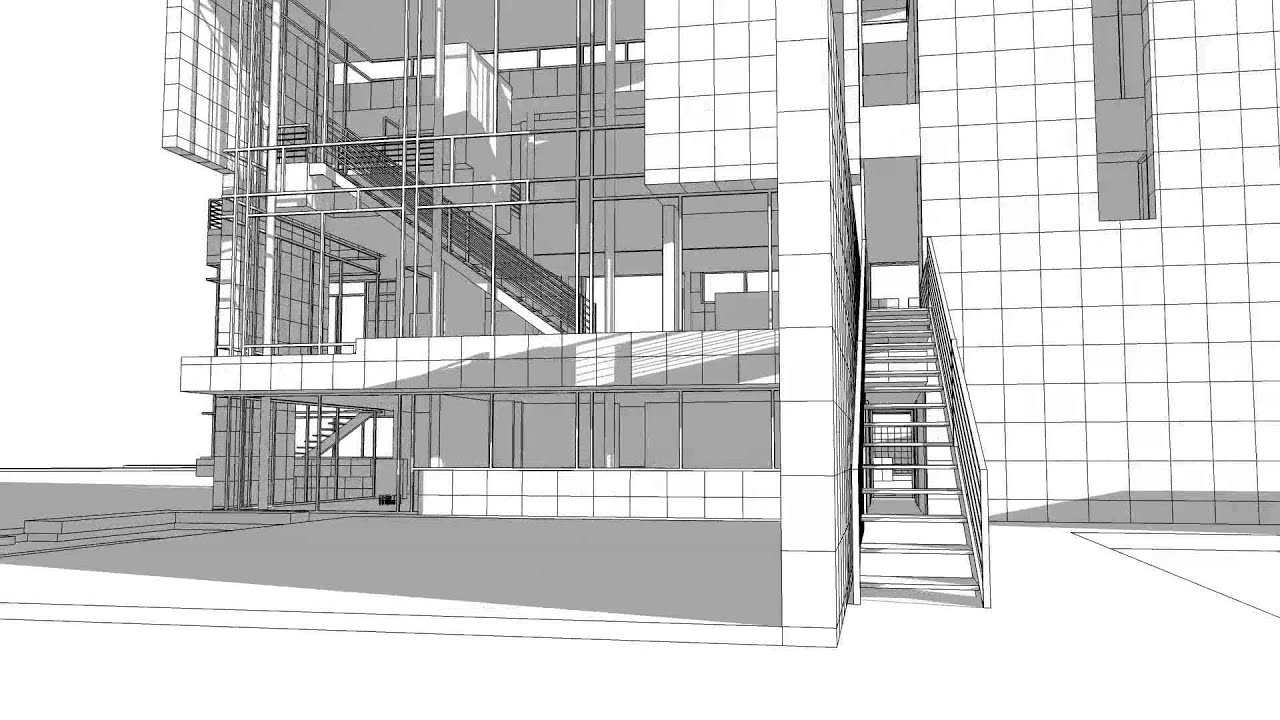 Rachofsky House SketchUp Walk Through