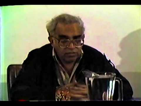 Rueda de prensa con Carlos Monsiváis en 1984