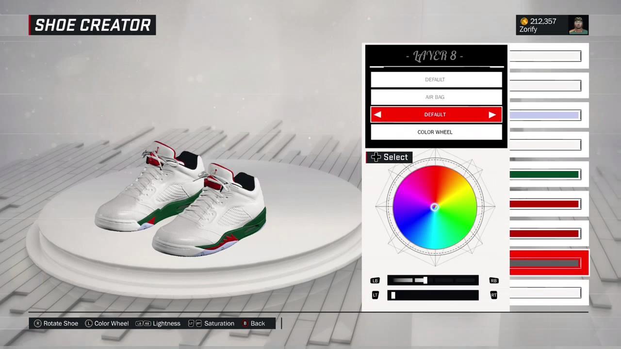 6d98efdfd NBA 2K17 Shoe Creator - Air Jordan 5 Low Custom