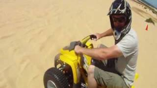 Quad Bike Riding Stockton Beach in the Dunes near Newcastle Australia Gopro HD Hero