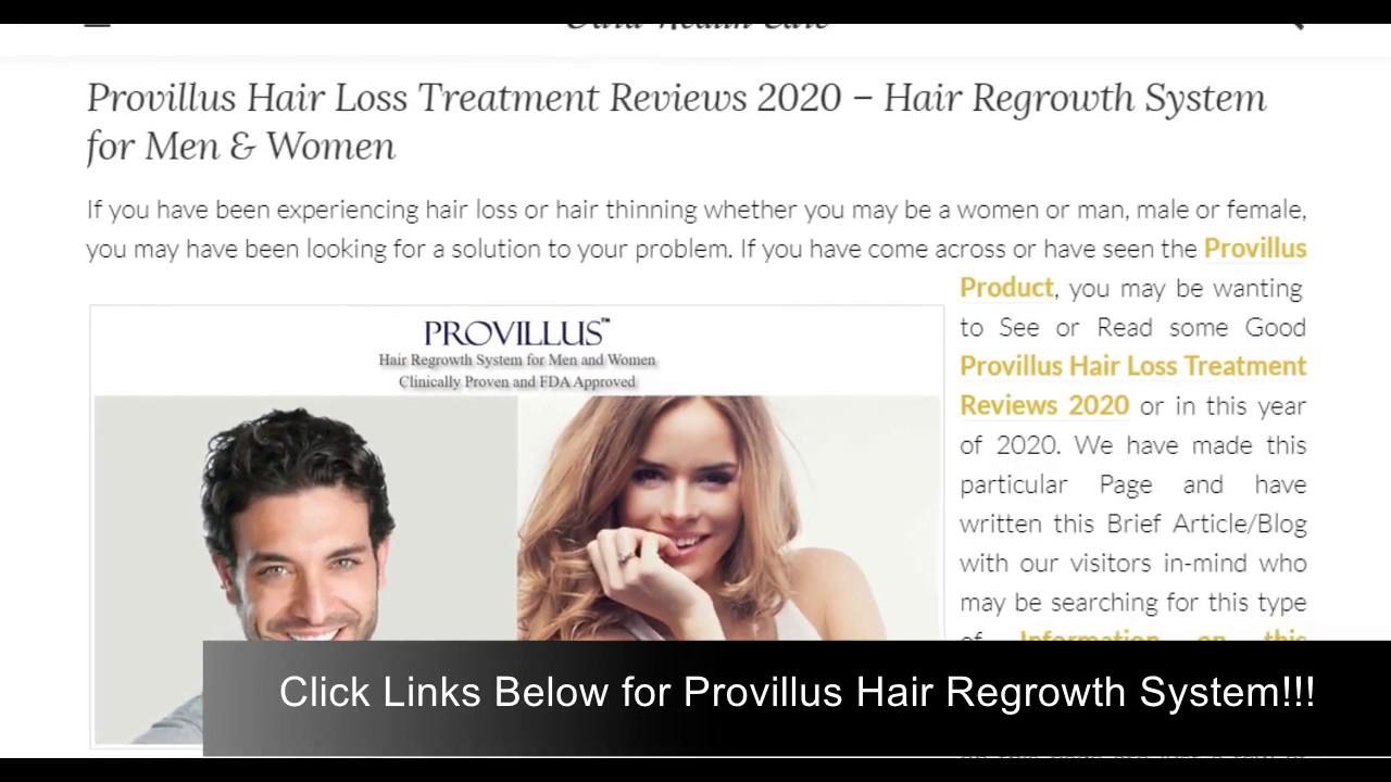 Provillus Hair Loss Treatment Reviews 2020 Hair Regrowth System