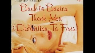 Christina Aguilera - Thank you (Dedication To Fans