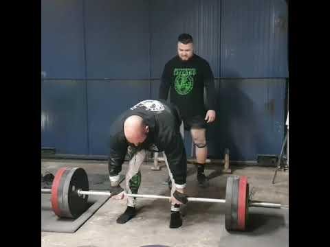 Record post lesion Peso muerto 340kg!!!!!estamos de vuelta!!!valhalla o victoria!!!