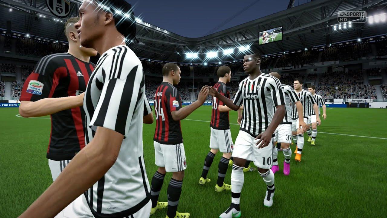 Fifa 16 juventus vs a c milan full gameplay ps4 xbox for Fifa 17 milan