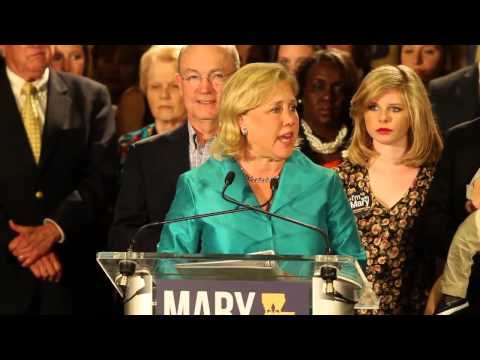 Mary Landrieu addresses her supporters