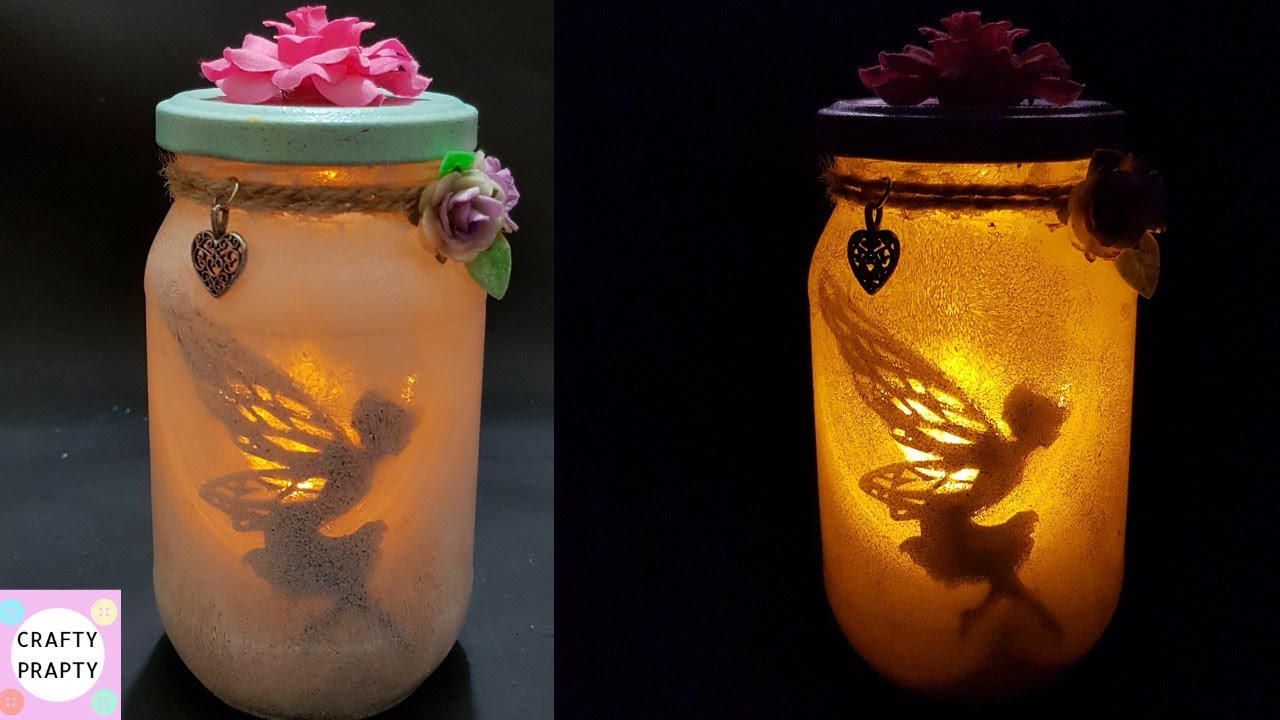 Fairy Lantern Tutorial Diy Fairy Glow Jars No Tissue Paper Youtube