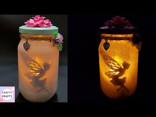 Fairy Lantern Tutorial/DIY: Fairy Glow Jars   No Tissue Paper  