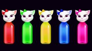 Learn Color Finger Family Tom Bottle Nursery Rhyme Song For Children