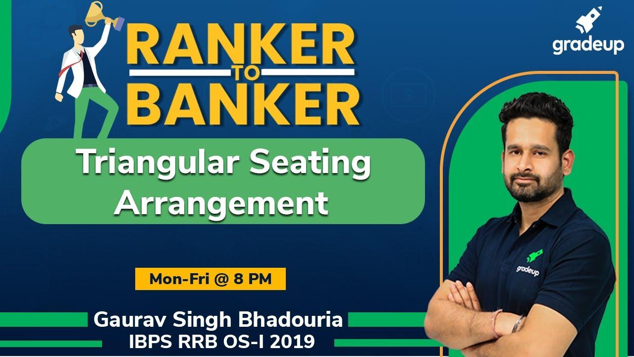 Triangular Seating Arrangement | IBPS RRB Exams 2020 | Reasoning | Gradeup | Gaurav Singh