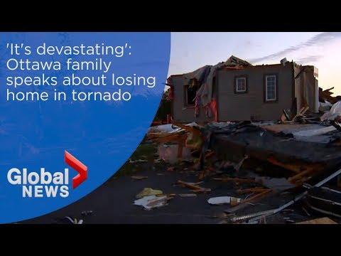 'It's pretty devastating': Ottawa family speaks about losing house in tornado