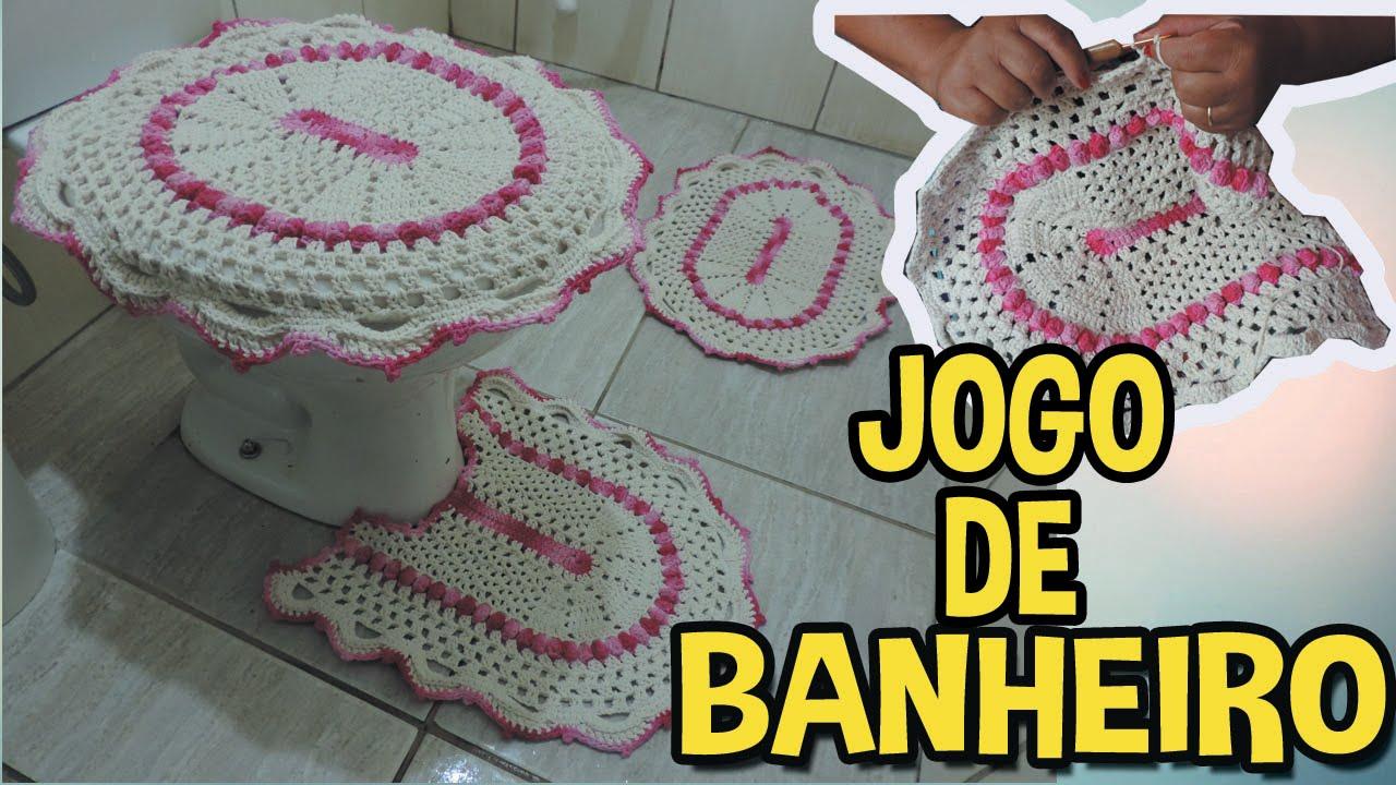 JOGO DE BANHEIRO EM CROCHÊ  YouTube -> Jogo De Banheiro Simples Oval Passo A Passo