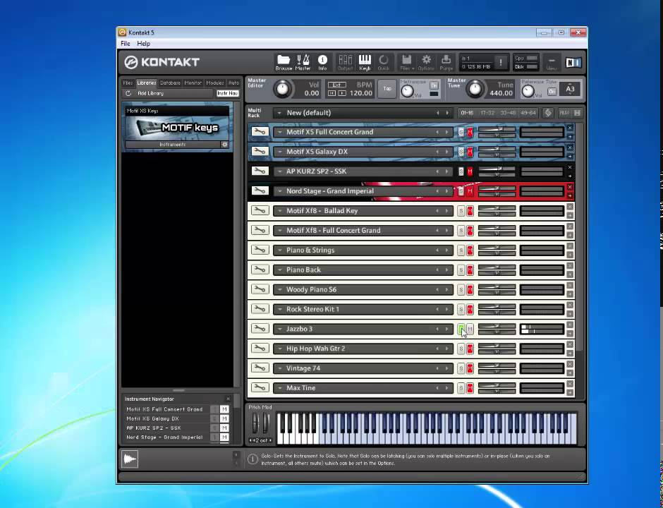 Samples yamaha motif xf8 kontakt library youtube for Yamaha motif sounds download free
