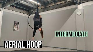 Aerial Hoop Routine Tutorial (Intermediate Level)   AIR Hoop