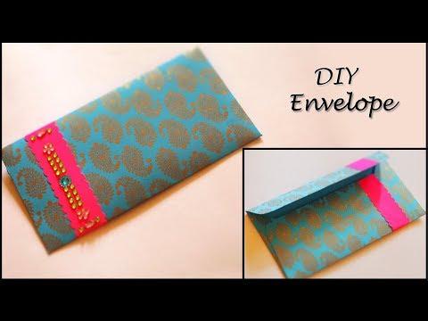 Envelope Making Tutorial | DIY Designer Gift Envelope | Paper Art and Crafts