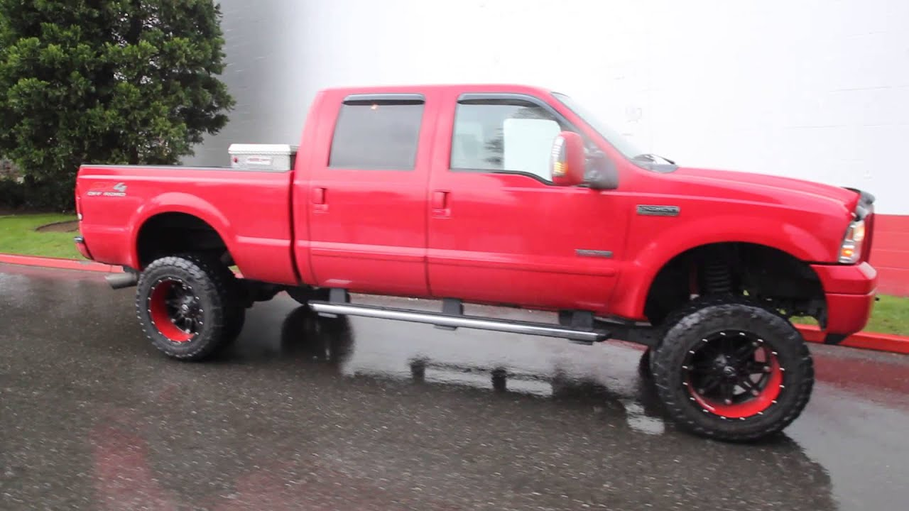 2006 ford f 250 lariat 6 0l v8 diesel ea08683 red. Black Bedroom Furniture Sets. Home Design Ideas