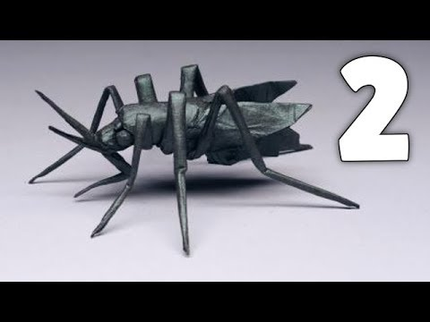 Origami Aedes aegypti (Mosquito) Tutorial By Robert Lang - Part 2/2 [Shaping]