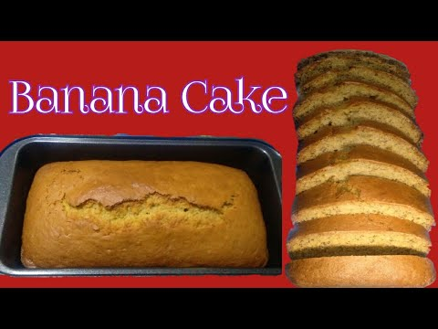 How to cook/make banana cake/ bread in oven,crunchy outside moist inside #recipe #yummy#delecious