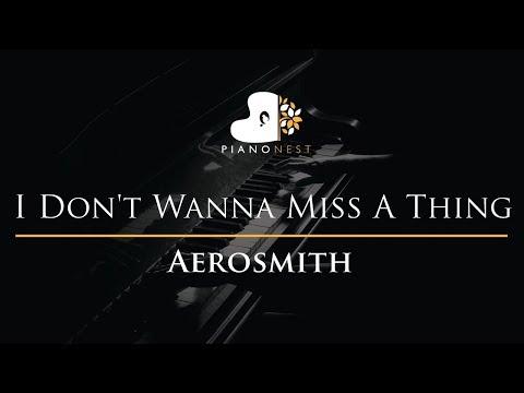 Aerosmith - I Don't Wanna Miss A Thing - Piano Karaoke / Sing Along Cover with Lyrics