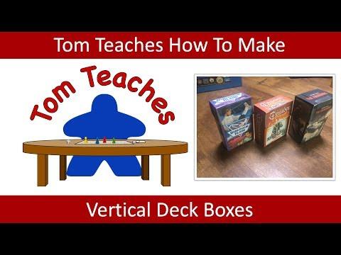 Tom Teaches Making Vertical Deck Boxes