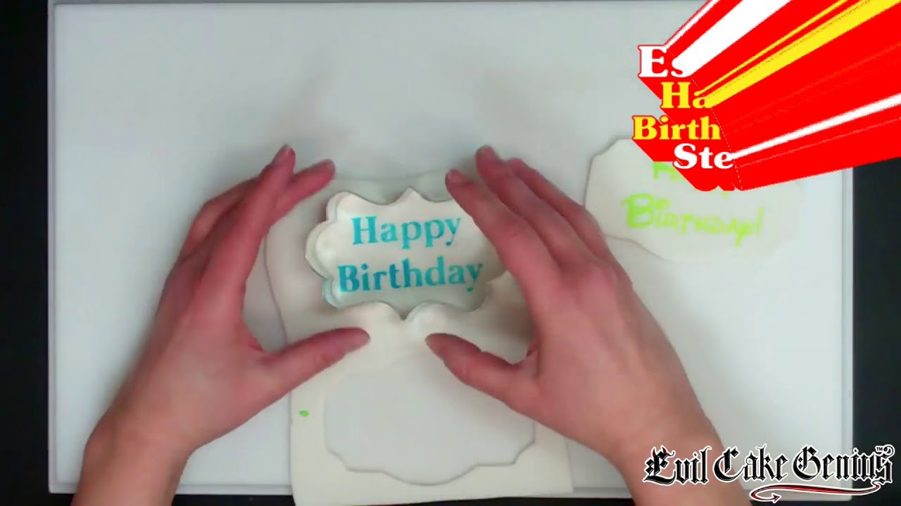 graphic about Cake Stencils Free Printable named Absolutely free Significant Delighted Birthday Cake Stencil Established!