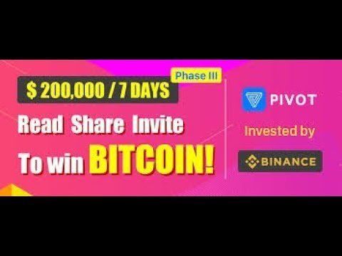 Pivot Bitcoin App 100$ Daily How to Use without investment payment instant by technical hero