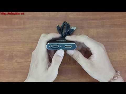 Bộ Chuyển đổi Cổng đa Năng HDMI + VGA Cho điện Thoại, Máy Tính Bảng Ugreen 30963