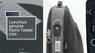 Trabasack Max - Luxury Lap Desk Bag With Harris Tweed Trim