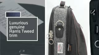 Trabasack Max - Luxury Lap Desk Bag With Harris Tweed Trim