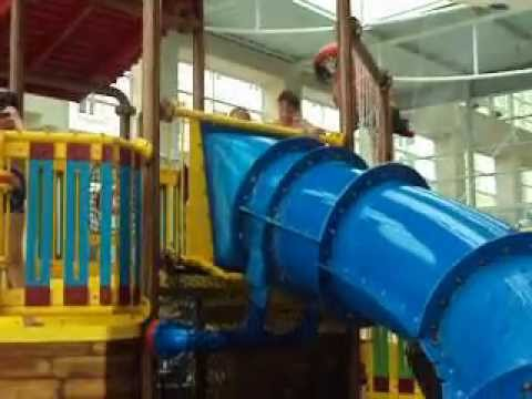 Disneyland Paris Explorers Hotel Swimming Pool Children 39 S Slide Youtube