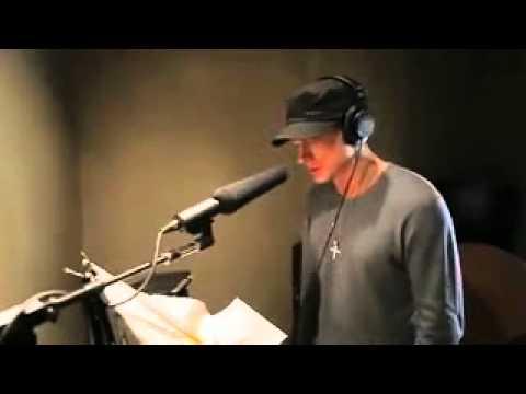 eminem recording brisk ad in studio eminem